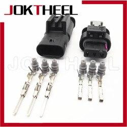 Автомобильный электронный водонепроницаемый разъем TE Tyco AMP, 1/5/10/20 шт., 3 pin, гнездовой разъем 1718653-1 для VW Audi 4F0973703A 4f097373