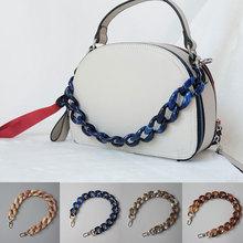 Łańcuch torby pasy akrylowy pasek do torby na ramię łańcuch 45-120cm pas DIY odpinany wymiana torebki Crossbody torby Chian uchwyt tanie tanio Other YJ38524 Pasek torby