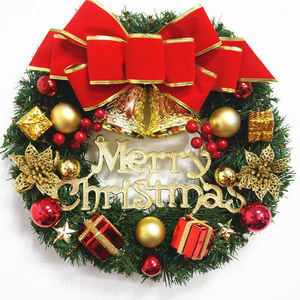 Image 5 - 30cm Christmas Wreath Door Hanging Christmas Decorations Simulation Flowers Window Props Background Christmas Tree Accessories