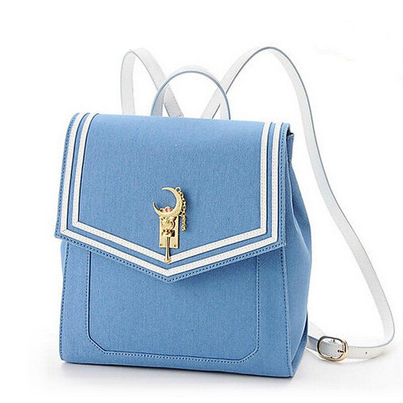 Umhängetasche Blau Ideal für Cosplay japanische Schultasche für Oberschüler