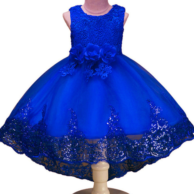 Girls Sleeveless Princess Children flower Party dress Wedding 3-12 Years Girls Trailing Party Prom High Quality Lace vestido 3