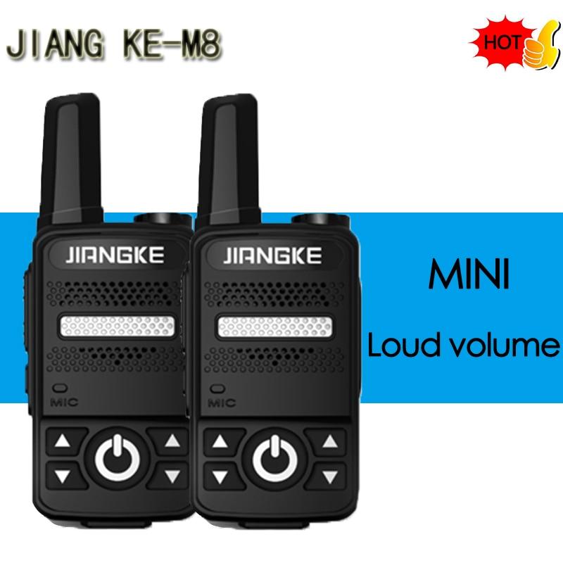 JIANG KE M8 MINI Walkie Talkie VOX Voice Control UHF 400-470MHz  Small Walkie Talkie Radio Transceiver With Earpiece Headset