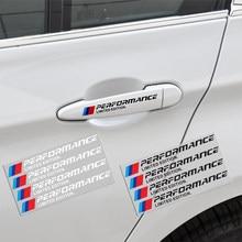 4 pçs maçaneta da porta do carro adesivo m desempenho de potência para bmw 1 3 4 5 7 série gt x série f10 f25 f30 f31 f34 acessórios exteriores