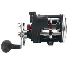 High Strength Black Drum Wheel Stainless Steel Digital Display Fishing Reel