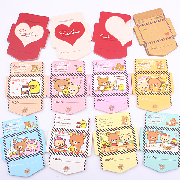 (1 Pack) Kawaii Memo Pad Bear Series Envelope Style Memos 35 Sheets Sticky Notes Stationery Supplies Kids Gifts (dd-1756)