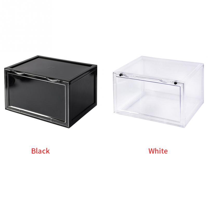 Six Pieces Stackable Office Transparent Tidy Household Foldable Detachable Containers Display Case Drawer Type Shoe Box Thicken