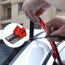 14mm/19mm Car Rubber Seal Strips Auto Seal Protector Sticker Window Edge Car Windshield Roof Rubber Sealing