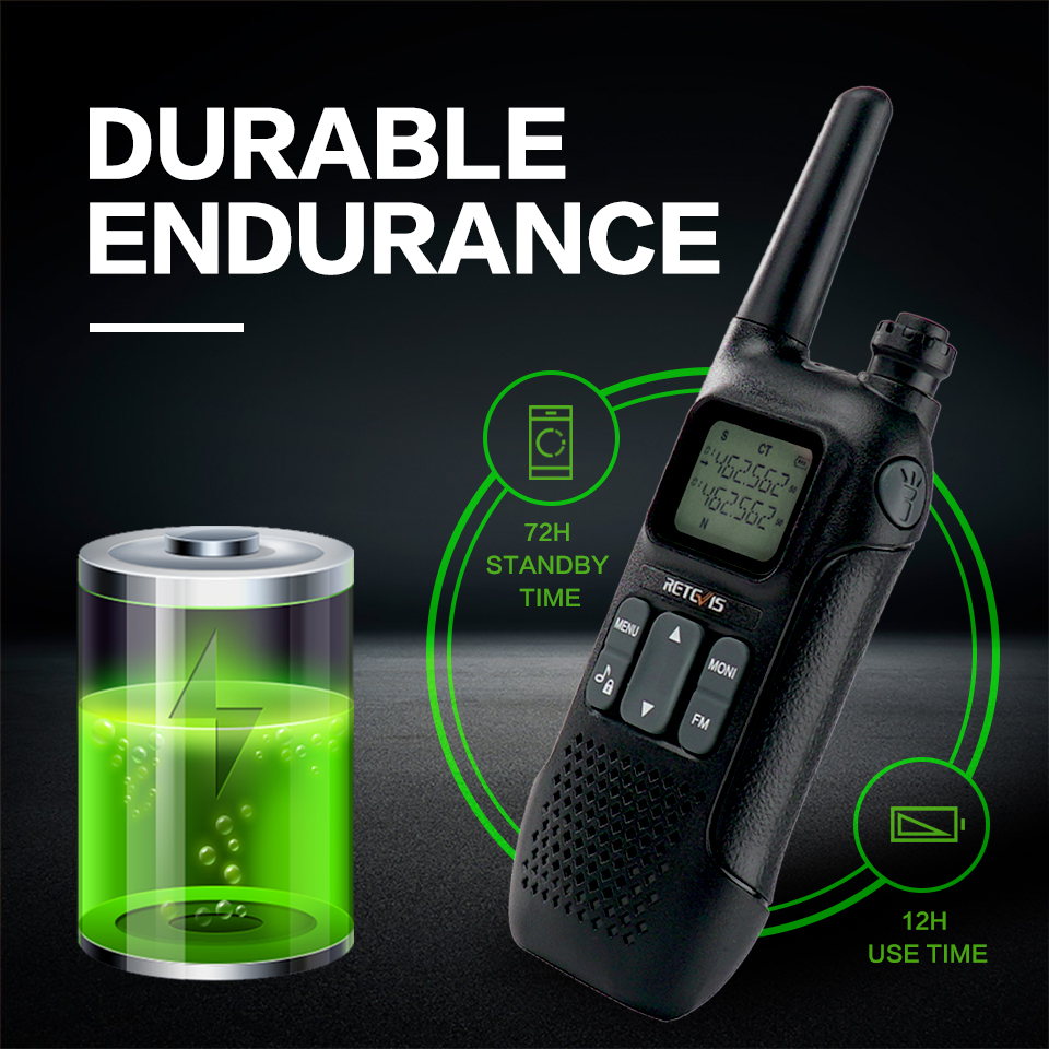 Retevis RT616 RT16 PMR Walkie Talkie 2 pcs Family Use Emergency Radio VOX NOAA Weather Alert FM Radio Two Way Radio PMR446 FRS