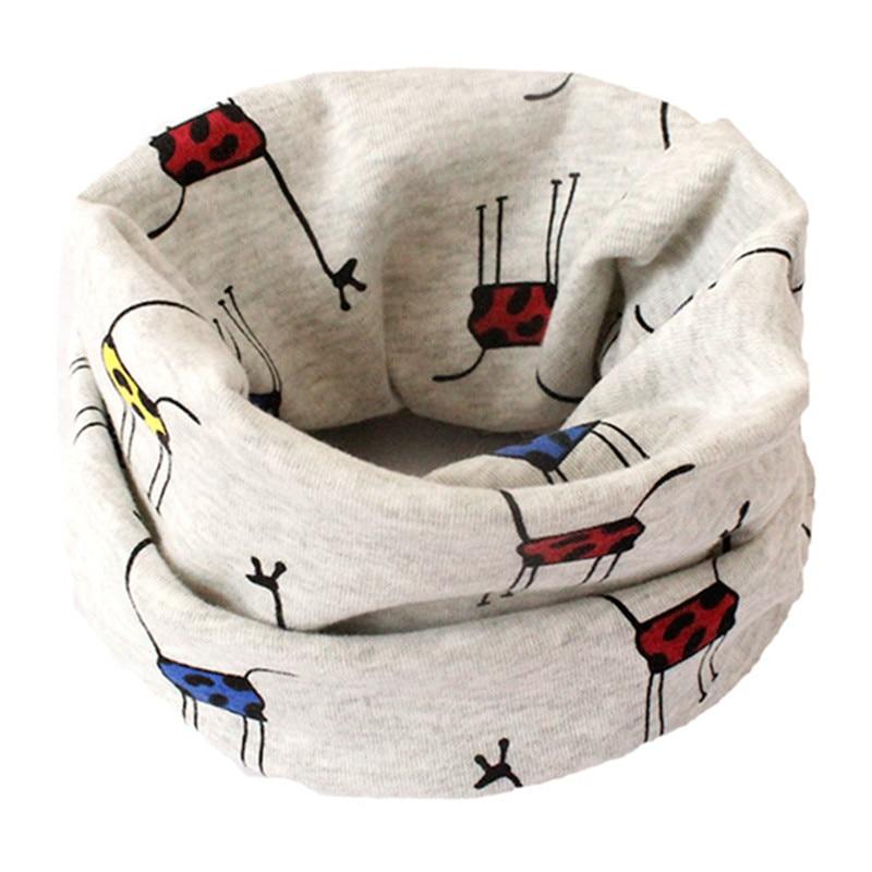 Весенний детский хлопковый шарф, теплый шарф для маленьких детей, осенне-зимние шарфы с героями мультфильмов для мальчиков и девочек, детский воротник с круглым вырезом, волшебный шейный платок - Цвет: 01