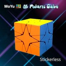 MoYu Cubing sınıf Meilong Polaris küp Stickerless Mofangjiaoshi sihirli bulmaca küp eğitici MoYu Polaris Cubo Magico oyuncak