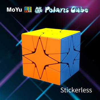 MoYu Cubing Classroom Meilong Polaris Cube Stickerless Mofangjiaoshi magiczna edukacyjna kostka z puzzlami MoYu Polaris Cubo Magico zabawka tanie i dobre opinie NoEnName_Null CN (pochodzenie) Z tworzywa sztucznego Mini avoid swallowing moyu Polaris cube 5-7 lat 8-11 lat 12-15 lat
