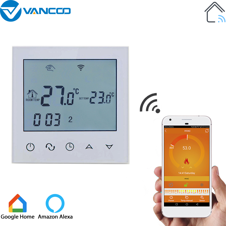 Digital LCD Wireless Heating Thermostat Temperature Controller Digital Thermostat Controller Programmable Thermostat for Electric Heating System
