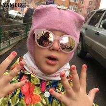 Детские солнцезащитные очки yameize в стиле ретро черные детские