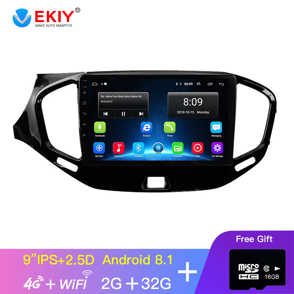 EKIY 9 ''2 DIN IPS Auto Radio Für Lada VESTA 2015-2019 Multimedia Video Player Navigation GPS Android 8.1 zubehör Limousine Dvd