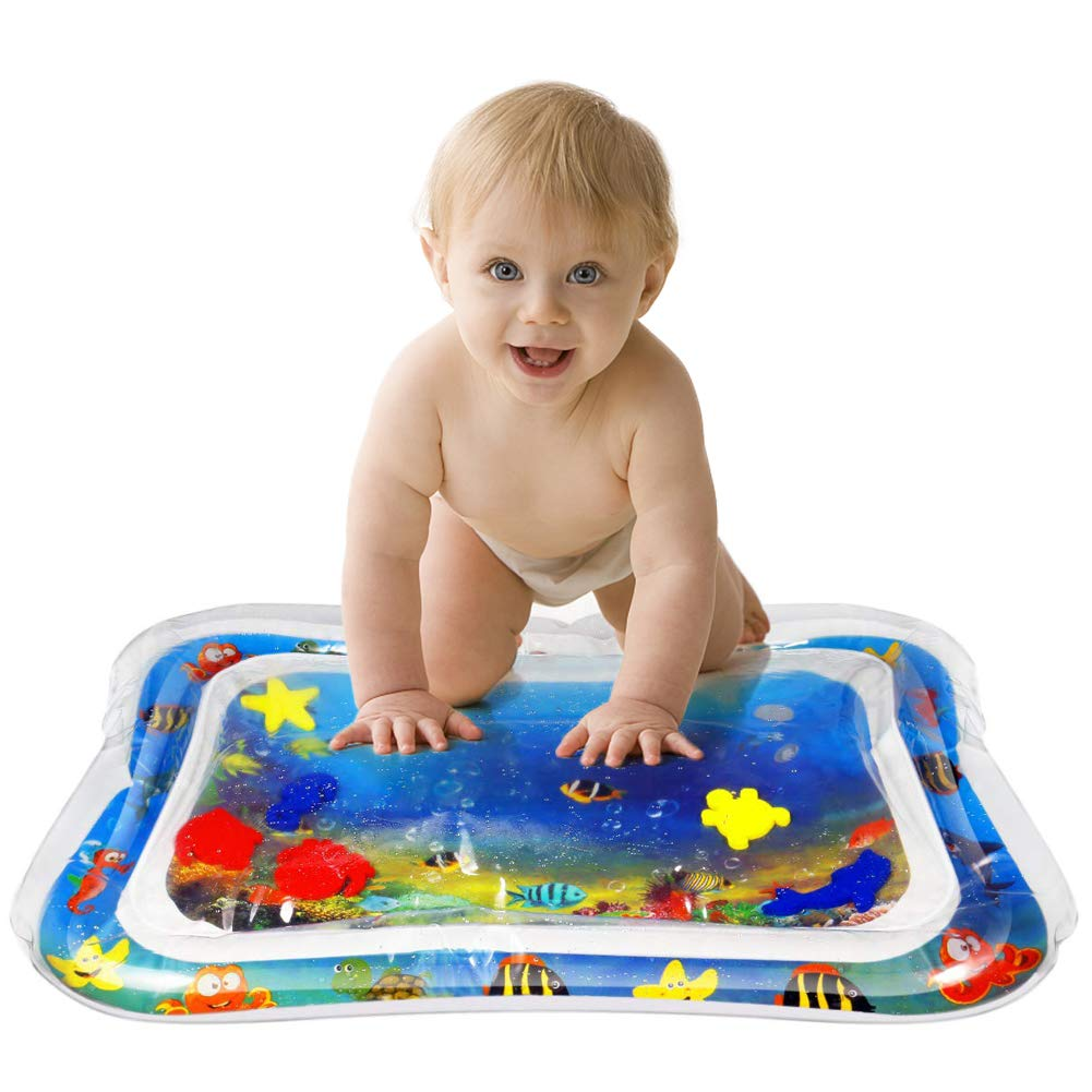 Inflatable Tummy Time Premium Water Mat Infants Toddlers Is The Perfect Fun Time Play Activity Center Baby's Stimulation Growth