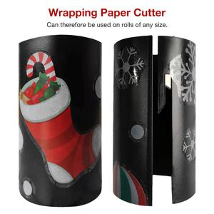 New Sliding Wrapping Paper Cutter Christmas Gift Packaging Wrapping Paper Roll Cutter Cuts The Prefect Line Every Single Time(China)