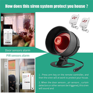 Image 5 - FUERS Alarm Siren Home Security System Wireless Siren Loudly Sound for House Garage 100dB Volume PIR Motion Detector Controller