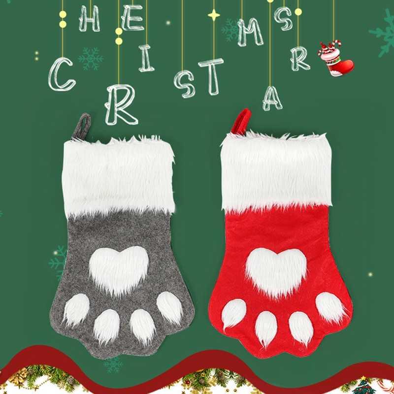 Рождественский чулок мини-носок Санта Клаус Конфеты Подарочная сумка Рождественские елочные игрушки