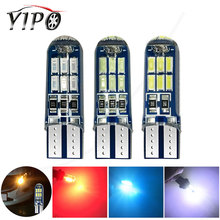 T10 led w5w 194 168 4010 15smd Wedge Clearance  bulbs reading dome signal Light interior lamp Silica 12V car styling white red w5w 10 led 7020 smd car t10 led 194 168 wedge replacement reverse instrument panel lamp white blue bulbs for clearance lights