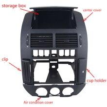 5 шт./комплект вентиляционное отверстие приборной панели центральная консоль панель Крышка вентиляционное отверстие слот для карт держатель чашки коробка для VW POLO 9N POLO
