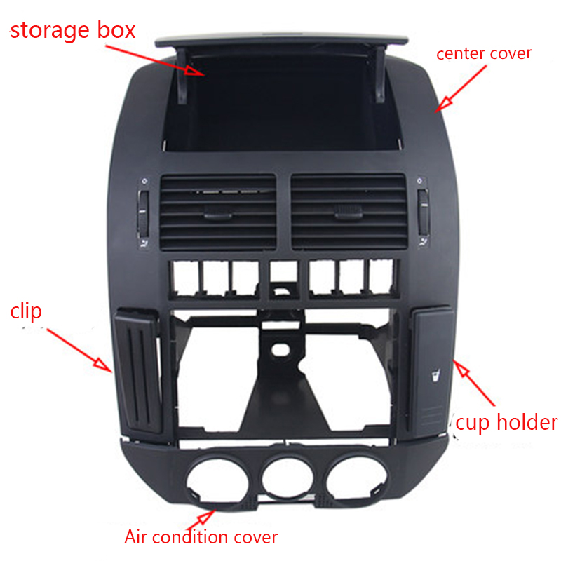 5 個/キットのダッシュボード中央コンソールパネルカバー空気ベントカードスロットカップホルダー Debis ボックス vw ポロ 9N ポロ