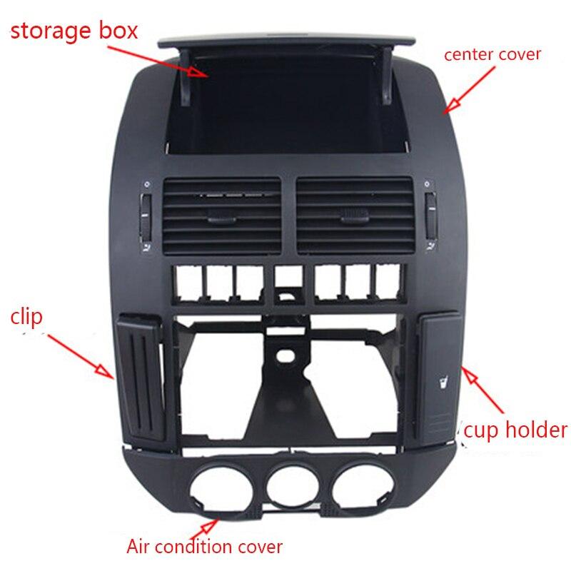 5 pcs/kit van Dashboard ontluchter Centrale Console Panel Cover Air vent Card slot bekerhouder Debis doos voor VW POLO 9N POLO