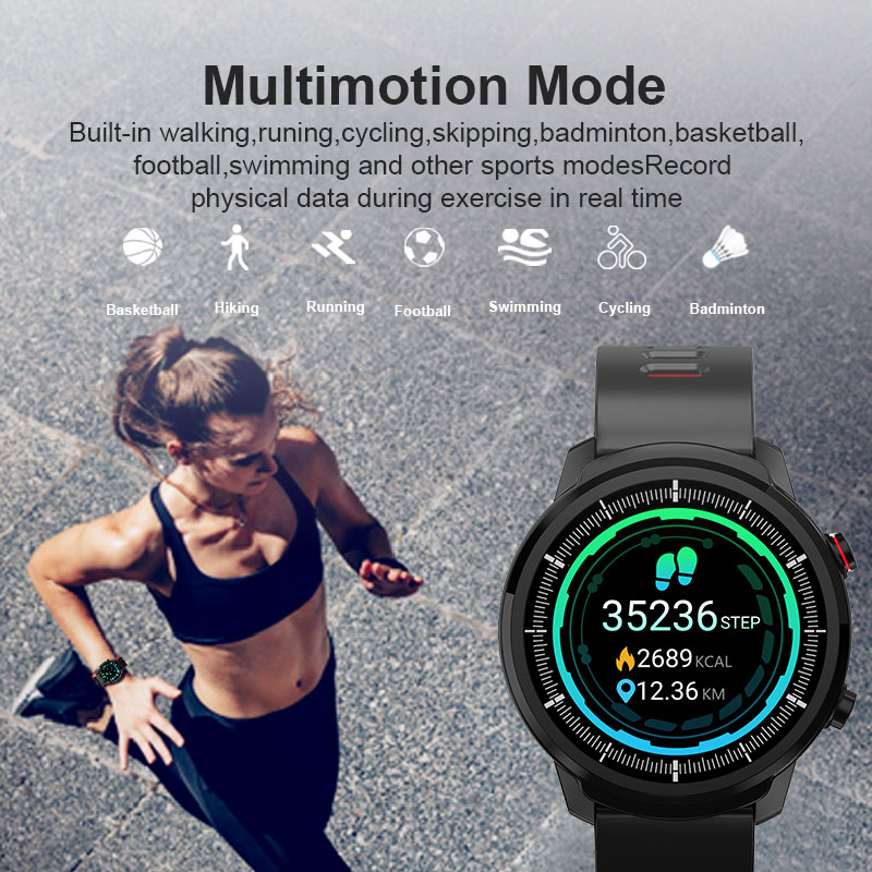 L3 Waterproof Smart Watch with Round Screen Heart Rate Pedometer and Call Message Reminder Smart Activity Tracker for Women Men 14
