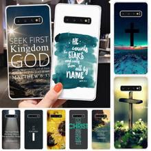 Bible Verse Philippians Jesus Phone Case Transparent Phone C