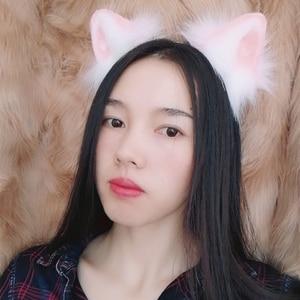 Image 4 - 新しいピンク猫耳コスプレカーニバルゴシックロリータアクセサリ髪フープ帽子ガール女性子供手作業