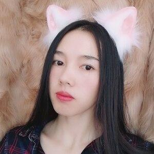 Image 4 - Orejas de gato rosa para Cosplay, accesorios de Lolita gótica, Carnaval, cabeza para Aro para la niña, mujer, manual de Trabajo para niños