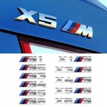 Para bmw série 1 2 série 3 série 5 série x1x3x4x5x6 m padrão decoração modificado estilo do carro adesivos de metal acessórios automóveis