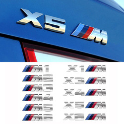 For BMW 1Series 2 Series 3 Series 5 Series X1X3X4X5X6 M standard decoration modified car Styling metal stickers Auto Accessories