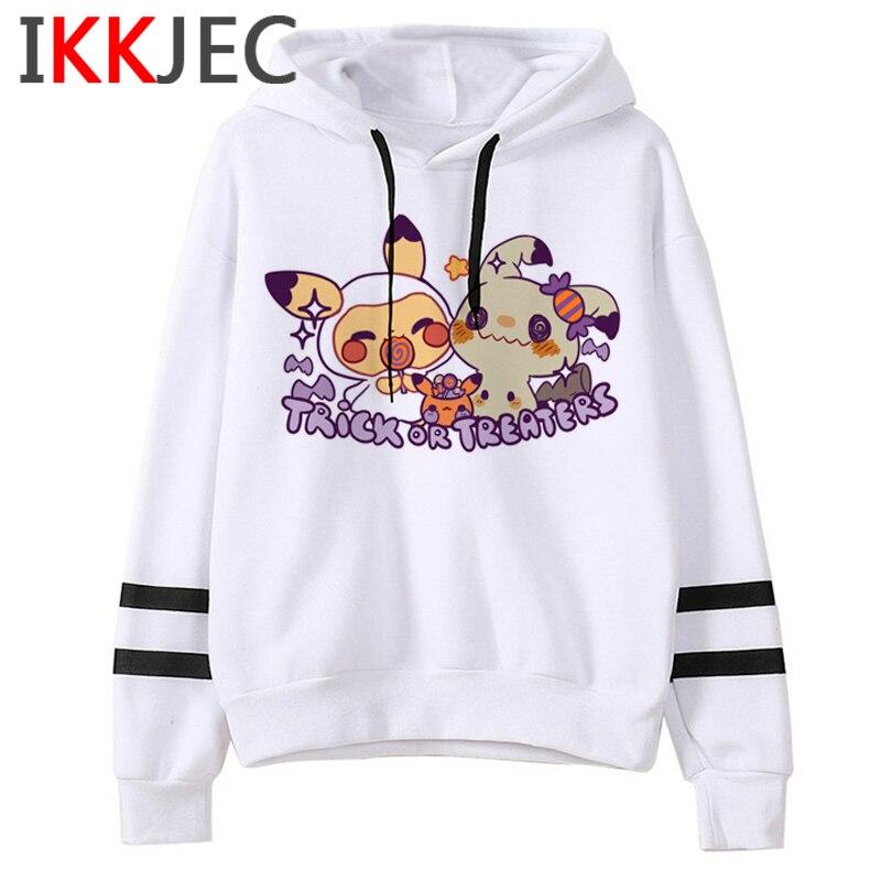 Pokemon Go Funny Cartoon Warm Hoodies Men/women Cute Pikachu Japanese Anime Sweatshirts Fashion 90s Steetwear Hoody Male/female 15
