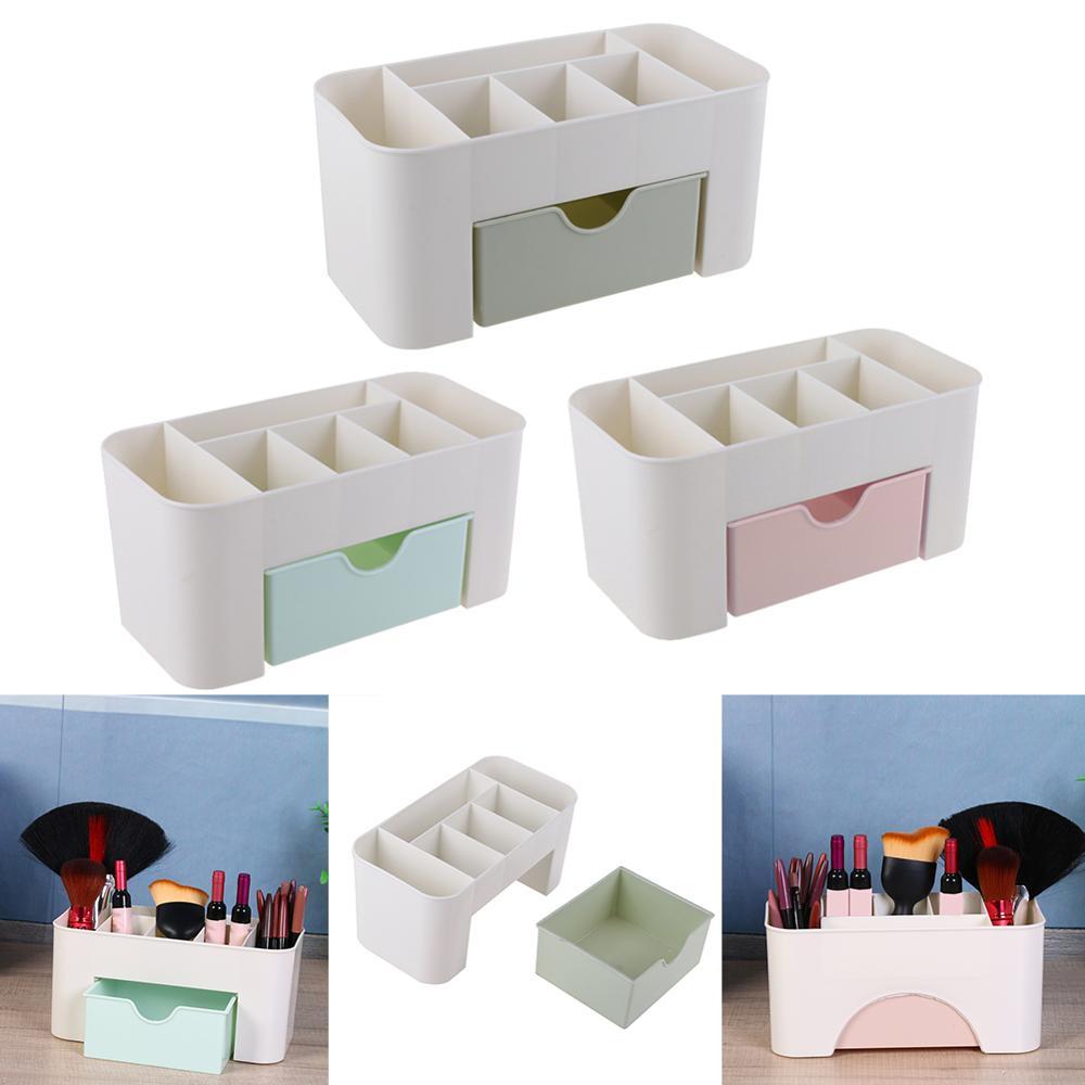 Multifunctional Creative 6 Grid Makeup Brush Holder Storage Desktop Ornament Crafts Storage Basket Makeup Organizer Storage Box