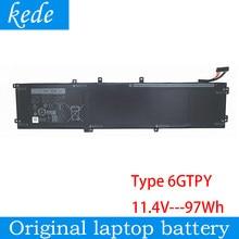 Kede M5520 6GTPY Original bateria do portátil para dell Precision 5530 5540 XPS15 7590 9570 9560 Inspiron 7590 7591 97wh