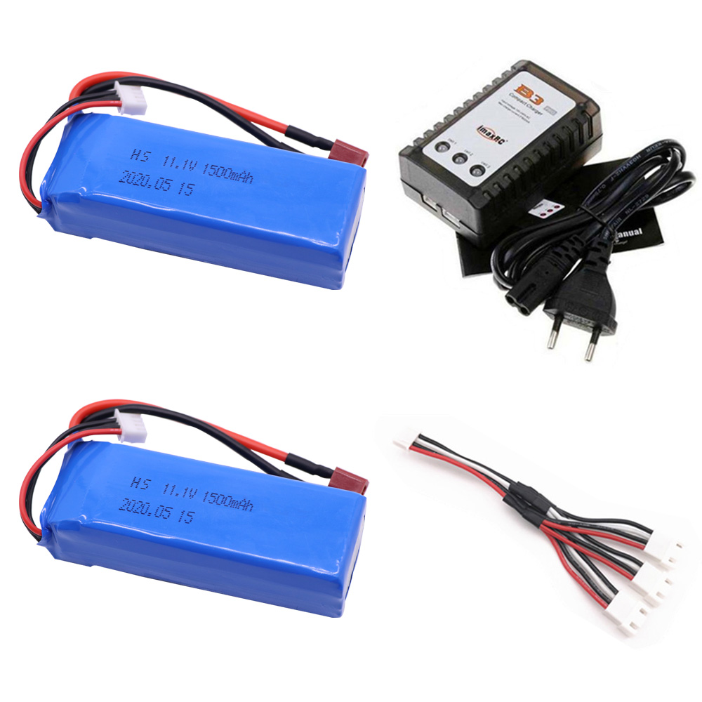 LiPo Battery with Charger set for WLtoys V950 RC Helicopter Airplane toys accessories <font><b>3S</b></font> 11.1V <font><b>1500mAh</b></font> lipo Battery T Plug image