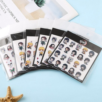 1 Sheet Anime Demon Slayer:Kimetsu No Yaiba Kamado Tanjirou 3D Bubble Stickers Notebook Diary DIY Decor Stationery Kids Gift - discount item  15% OFF Stationery Sticker