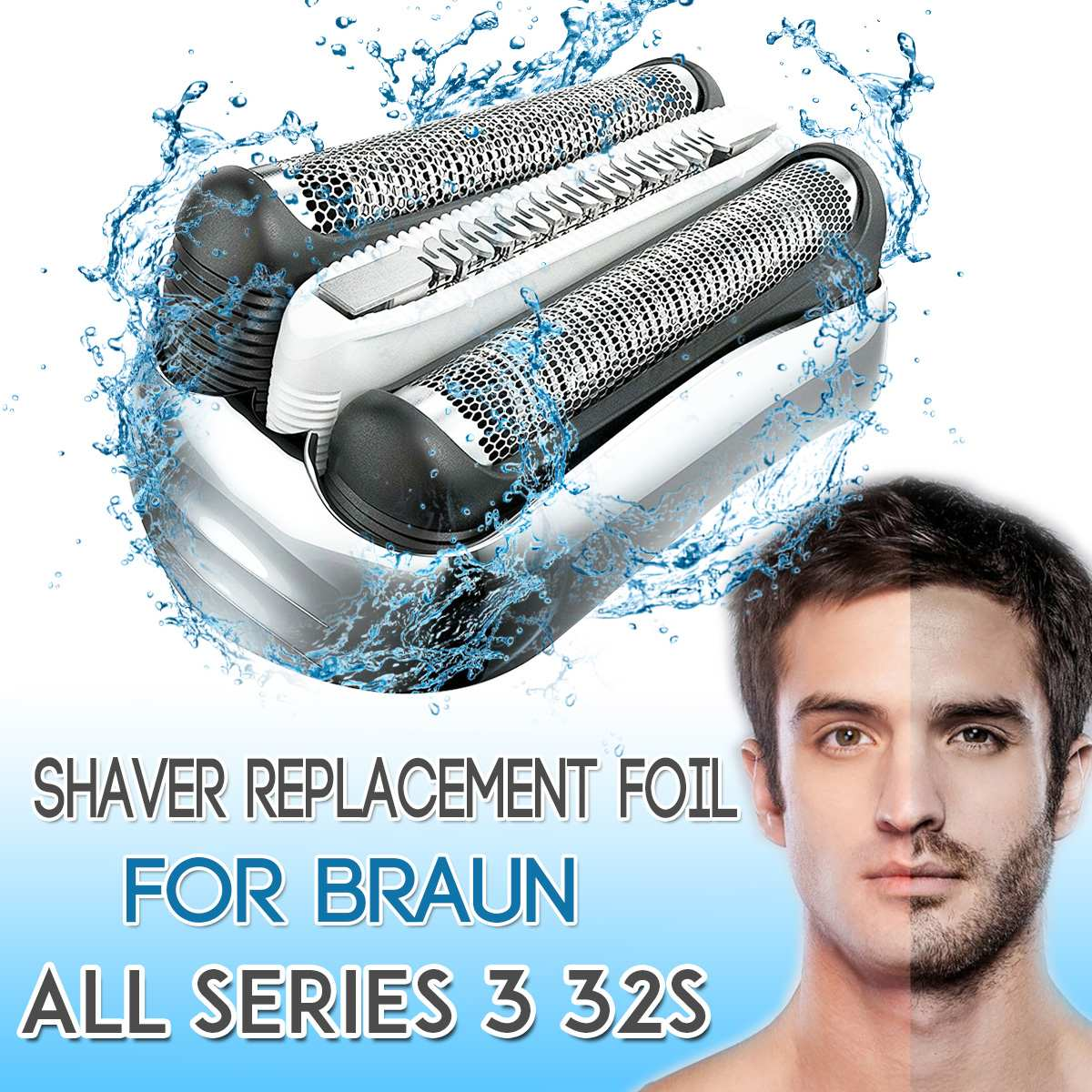 Shaver Foil Head Replacement For Braun 21B 32B 32S Series 3 5776 5415 5772 3040cc 3050cc 3080cc 300s 310s Shaver Razor Blade