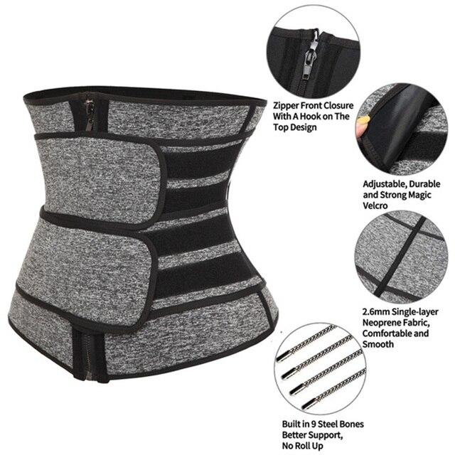 Neoprene Sauna Waist Trainer Corset Sweat Belt for Women Weight Loss Compression Trimmer Workout Fitness 2