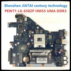 LA-6582P Para Notebook Acer aspire 5742G 5733 5742Z MBRJY02002 PEW71 LA-6582P HM55 UMA DDR3 5733Z 5742 Laptop Motherboard teste completo 100%