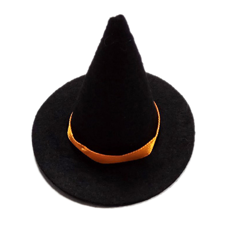 10Pcs Wine Bottle Cover Mini Halloween Witch Hat Festival Party Decoration Halloween Gift Ornament