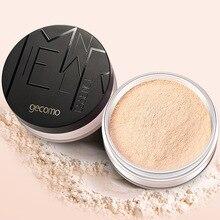 GECOMO рассыпчатая пудра стойкий контроль выработки кожного жира натуральный матовый макияж Косметическая пудра основа для макияжа 211001