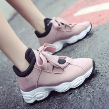 2019 New Stylish Woman Running Shoes Increasing 4CM INS High Heel Sneakers Women
