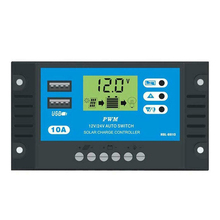 10/20/30A 12V/24V Auto Solar Charge Controller PWM 5V Solar Panel Battery Controller With Dual USB LCD Display цена 2017