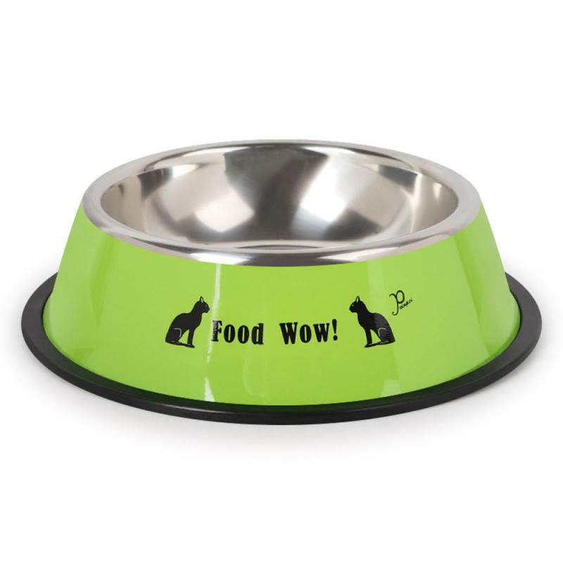 Durable Stainless Steel Non-Slip Dog Puppy Cat Animal Feeding Food Bowl Dish Random Color Water Bottle Food Dropshipping 17