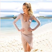 Split Side One Shoulder Sexy Camisole Summer Women Dress 2019 Long Sleeve Dresses Night Club Vestido