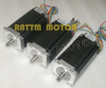 3 pcs NEMA23 stepper motor 57 type 425Oz-in 280N.cm Single shaft stepping motor/3A for CNC Router Engraving Milling image