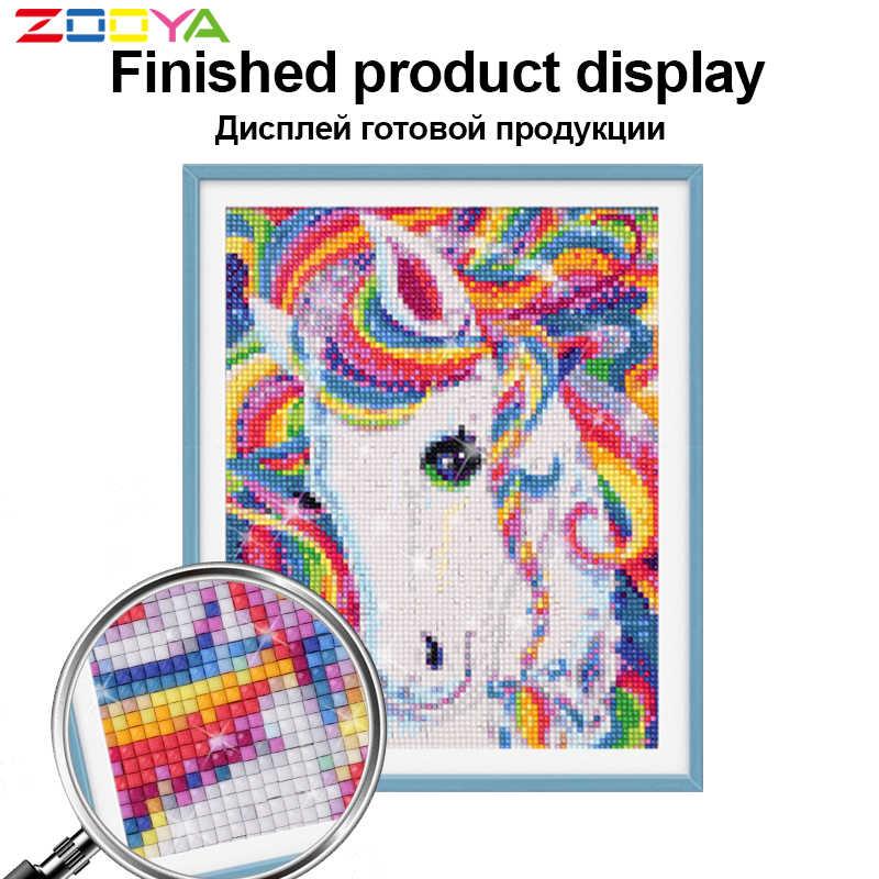 ZOOYA Diamond Bordir Hewan Laut Dolphin DIY Diamond Lukisan Cross Stitch Full Round Rhinestone Mosaik Dekorasi Rumah R942