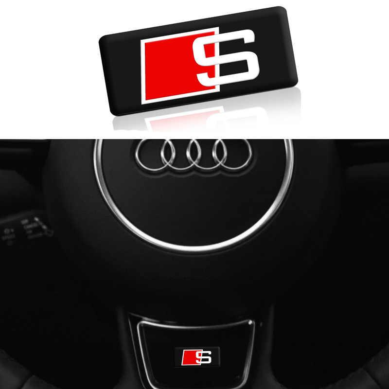 1 pièces de volant de voiture rétroviseur autocollant pour Audi a3 a4 a5 a6 s4 s5 s6 s7 q3 q5 q7 c5 c6 b6 b7 b8 8p 8v Accessoires De Voiture