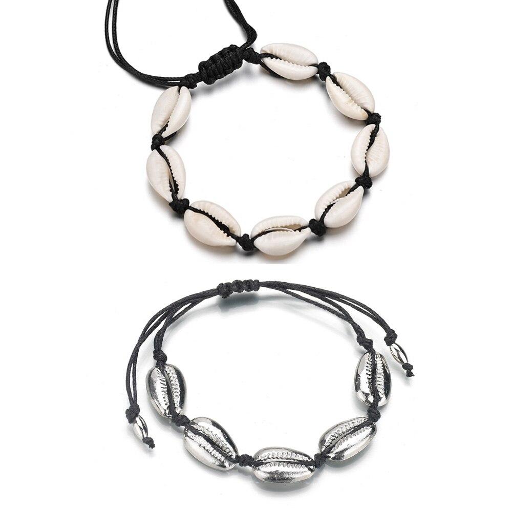 Creative Handmade Natural Beach Shell Jewelry Woven Bracelet Women Men Accessories Beaded Strand Seashells Bracelet